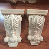 Home Decoration Factory Supplier  Antique Wood Carving Corbels