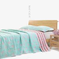 Egypt cotton blanket washable boy girl man woman single double pure colour grid stripe