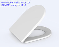 D shape ceramic feeling hard surface urea toilet seat cover