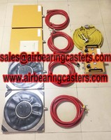 Heavy duty air caster rigging systems instructions and price list