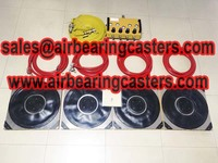 Air bearings skids and caster skids details