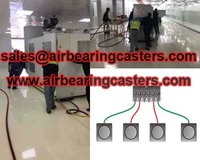 Air caster systems easily moving heavy equipment
