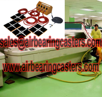Air caster moving systems application in life