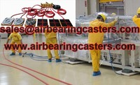Air castes applied on moving heavy duty equipment easily and safety