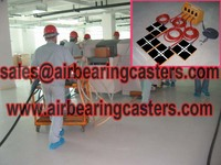 Air bearings movers handling heavy duty equipment easily and safety