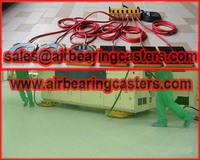 Air bearing casters solve your machinery and load moving problems easily