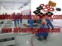 Air moving skates suitable smooth floors inside or outside door