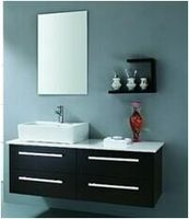 European Wall Mounted Solid Wood Bathroom Vanity