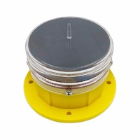 Solar Powered Visible 3km Obstruction Light For Building/Tower/Moving Obstacle