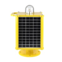 solar taxiway light housing warning light