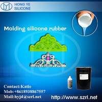 Liquid molding silicone rubber for resin jewelry mold making