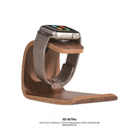 SAMDI Original Simple Office Rack Wooden Black Walnut Universal Apple Watch Charging Dock for Apple Watch Iwatch 42mm and 38mm and Mobile phone