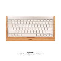 SAMDI Original Bamboo Sample Desk Rack Wooden iMac Bluetooth Bracket Dock Keyboard Mount Stander(Holder Showcase) for iMac Mac Pro Wireless Keyboard