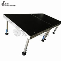 more images of Non Slip Material Portable Folding Aluminum Stage 6 Legs Platform 4ftx8ft