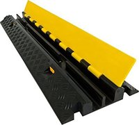 2 Channel And Heavy Duty Ramp Yellow Jacket Guard Humps De Car Plastic Ramps Rubber Cable Protector