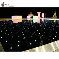 Black color Elegant white twinkle water proof new interactive wedding led dance floor for sale