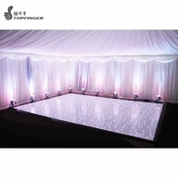 2ftx 4ft wire black & white color party starlit round weddings led dance floor for rental