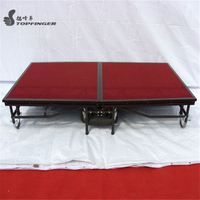 Aluminum Assemble Easy Portable Foldable Foldaway Folding Up Banquet Mobile Stage Platform for sale