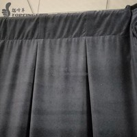 Pipe and drape system 350g/ sqm velvet portable backdrop fabric heavy draping on stand