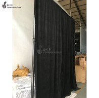 Exhibition Event Booth Use Velvet Material Backdrop Block Light Drape