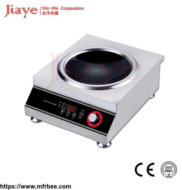 5kw_electromagnetic_commercial_stainless_steel_induction_cooker